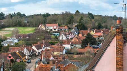 Kersey, a village in Babergh, where agreed sales have seen a 102pc increase since August 2019. Pictu