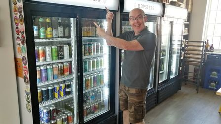 Ed Barnes of Hopsters who has just launched Hopsters Express, bringing craft beer fridges to indepen