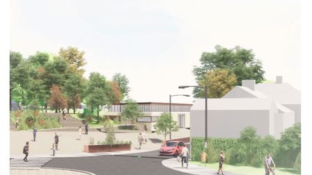 An artist impression of what the new look Belle VUe Park entrance could look like in Sudbury. Pictur