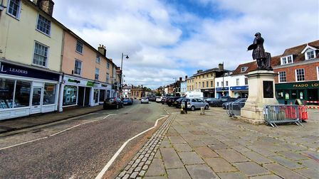Market Hill in Sudbury could be pedestrianised under the Sudbury Vision plans. Picture: GEMMA JARVIS
