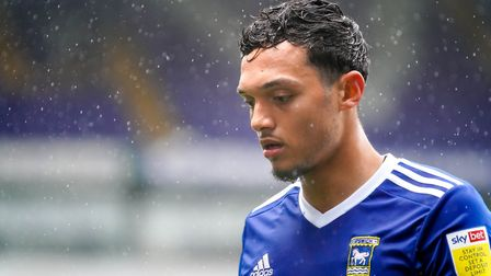 Andre Dozzell pictured during the 2-0 victory over Rochdale. Photo: Steve Waller