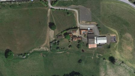 The application at Birch Farm in Hintlesham proposes a new farm shop and caf� with associated car pa