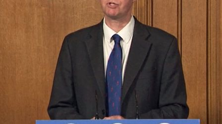 Chief Medical Officer, Professor Chris Whitty, during a media briefing in Downing Street, London, on