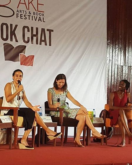 Emma pictured here at the Aké Arts and Book Festival in Nigeria Picture: Emma Shercliff