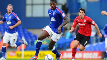 Jay Emmanuel-Thomas during his spell as an Ipswich Town player. Picture; ARCHANT