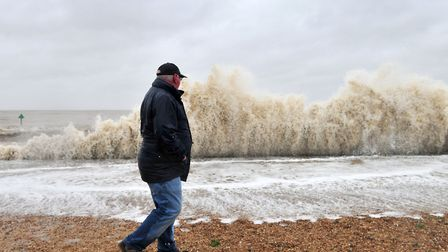 High winds and rain on the coast of Suffolk could be making waves this week Picture: SARAH LUCY BROW