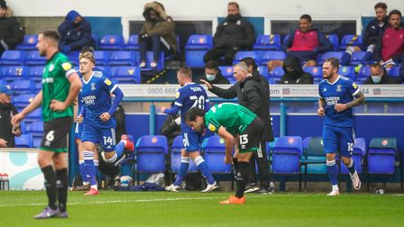 Substitutes Jack Lankaster and James Norwood come on during the second half.Picture: Steve Wall