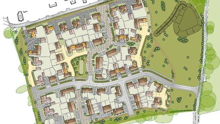 Hopkins Homes has submitted plans for 80 new homes in land known as Chapel Field in Grundisburgh Pic