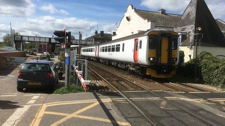 Level crossings near Woodbridge station are being upgraded (Stock Image taken before new trains were