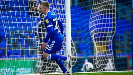 Freddie Sears wheels away after scoring his first in the 3-0 victory over Bristol Rovers. Not quite