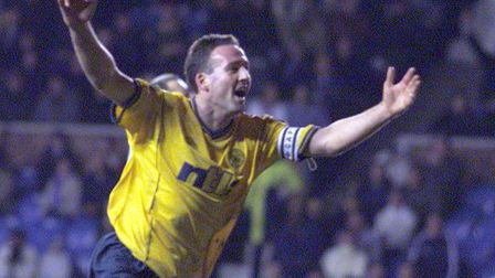 Paul Lambert celebrates scoring for Celtic. He thinks there is nothing normal about having no fans i