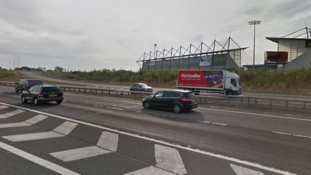 Police are attending a collision on the A12 by the Colchester Jobserve Community Stadium. Picture: G