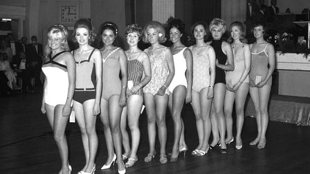 Miss Suffolk Show contestants in May 1968 Picture: ARCHANT