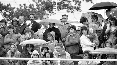 Spectators at the Suffolk Show in May 1988 Picture: ARCHANT