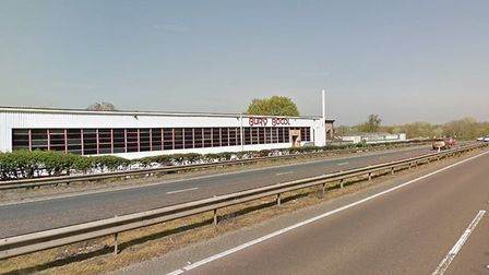 The A14 near Bury Bowl, in Bury St Edmunds, where Andrew Gibbins died in a road collision Picture: G
