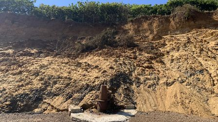 In June, sand and shingle has started to fall Picture: JACK TURNER