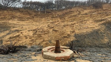 This picture, taken at the end of September, demonstrates the rate of erosion Picture: JACK TURNER