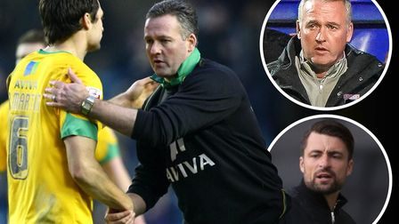 MK Dons boss Russell Martin played under the management of Paul Lambert at Norwich City. Photos: Arc