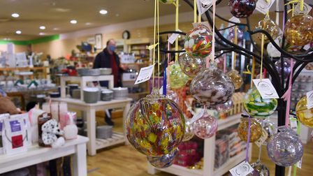 Birthstone globes hanging inside the newly opened department store Townrow in Sudbury. Picture: DENI