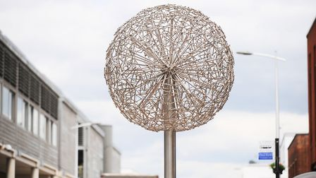 The metal trees in St Andrew's Street South, Bury St Edmunds, were paid for by Arc developer money f