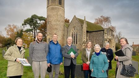 Volunteers at St Mary's Church, Rickinghall Picture: CHRIS REDGRAVE/ HISTORIC ENGLAND