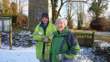 Volunteers at St Mary's Church in Nettlestead Picture: TOM KUPPER/ HISTORIC ENGLAND
