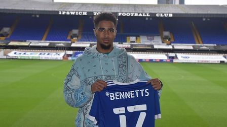 Ipswich Town have signed Keanan Bennetts on loan from Borussia Monchengladbach. Picture: ITFC