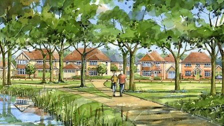 The first 499 homes of the huge Great Wilsey Park estate in Haverhill have been approved. Picture: P