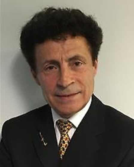 Victor Lukaniuk, West Suffolk Independent councillor for Brandon. Picture: FOREST HEATH DISTRICT CO