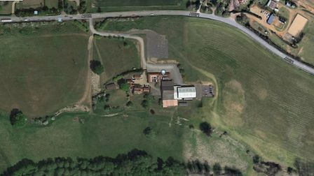 The new farm shop and caf� with associated car parking, cycle storage and electrical charging points