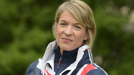 Helen Davies, Suffolk's leading long-distance athlete, who suffered with the cold and wet conditions