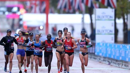 The elite women in action at the London Marathon, held over 19 laps. Picture: PA SPORT
