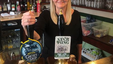 Elly White, now 68, is retiring from the Kings Arms in Stowmarket after 11 years and 45 years of wor