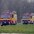 Four fire engines have been called to a crash in rural Suffolk Picture: PHIL MORLEY