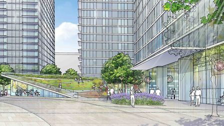 An artist's impression of the development at City Pride