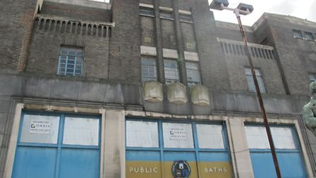 Poplar Baths... imposing structure in East India Dock Road