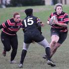 Michelle Gavagan leads a Millwall Venus attack during Saturdays win over LSE