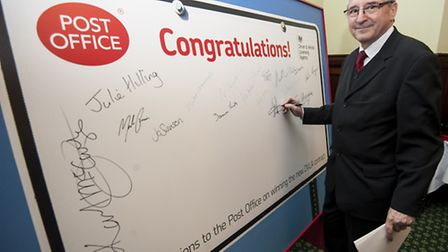 The Post Office celebrates winning the DVLA contract with an event for MP's in Dining Room B at the