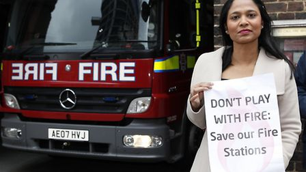 MP Rushanara Ali's protest in October has helped save Whitechapel fire station which is still to los