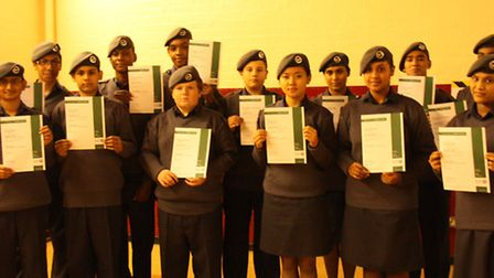 The Air Cadets with their first aid certificates