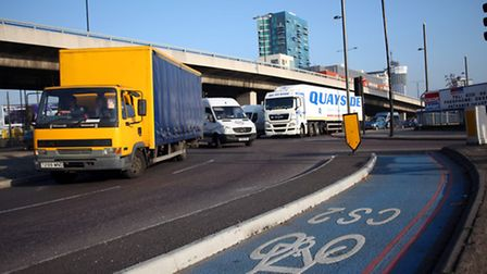 Bow roundabout, which is set to be linked to Stratford later this year