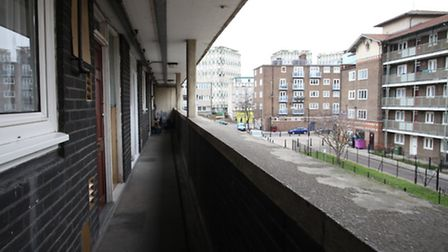 A housing estate in Tower Hamlets