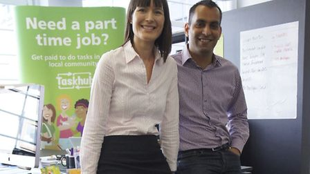 Aurore Hochard, left, and partner Rahul Ahuja are thrilled the telecom firm behind O2 has just inves