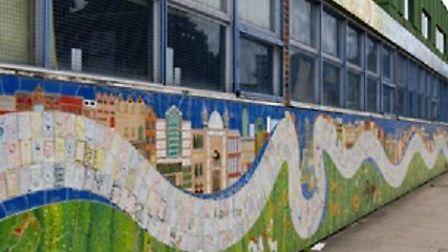 Mural at Stepey that used to be seen from Ben Johnson Road