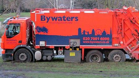 The Byawaters truck stuck in Victoria Park