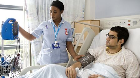 London Chest Hospital where medical trials have begun... similar to the patient care above