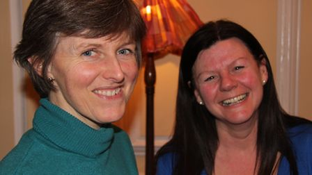 The Bishop's wife Gill Newman (left) and the Dean's wife Carol Rider