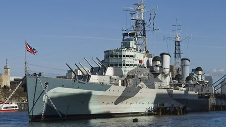 HMS Belfast by The Tower
