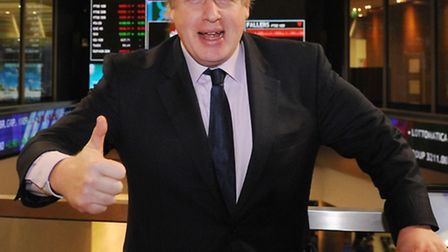 Boris Johnson opening trading at the London Stock Exchange. Picture: Stefan Rousseau/PA Wire
