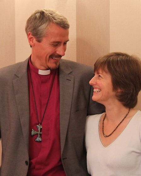 Bishop of Stepney Adrian Newman and wife Gill